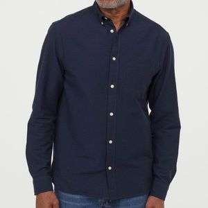 H&M Men's Long Sleeve Buffon Down Shirt